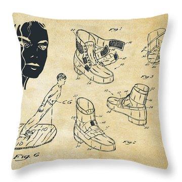 Michael Jackson Anti-gravity Shoe Patent Artwork Vintage Throw Pillow by Nikki Marie Smith