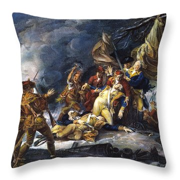 Montgomerys Death, 1775 Throw Pillow by Granger