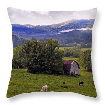 Morning Grazing Throw Pillow by Susan Leggett