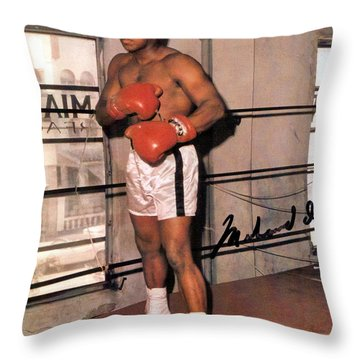 Muhammad Ali Throw Pillow by Unknown