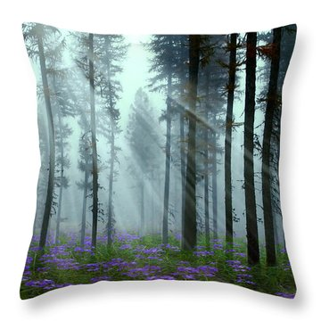 Nature's Beauty Throw Pillow by Nina Bradica