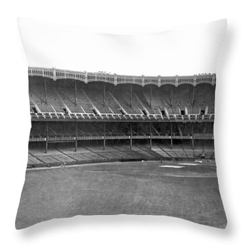 New Yankee Stadium Throw Pillow by Underwood Archives