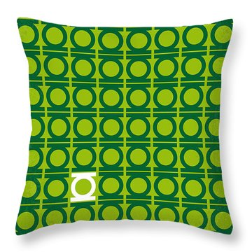 No120 My Green Lantern Minimal Movie Poster Throw Pillow by Chungkong Art