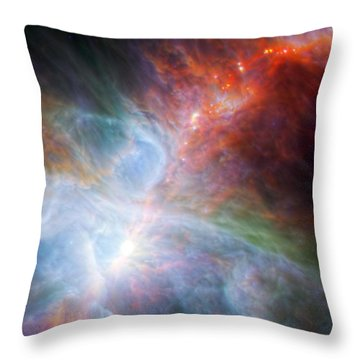Orion Nebula Throw Pillow by Science Source