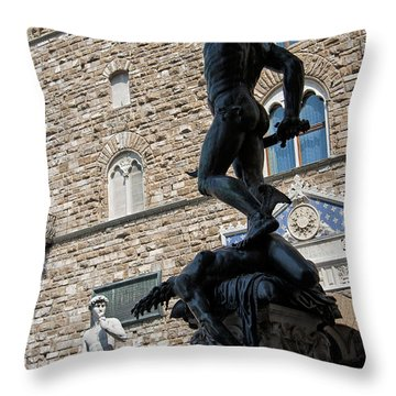 Perseus By Cellini Throw Pillow by Melany Sarafis