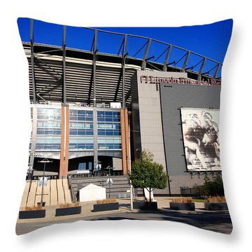 Philadelphia Eagles - Lincoln Financial Field Throw Pillow by Frank Romeo