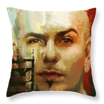 Pitbull Throw Pillow by Corporate Art Task Force