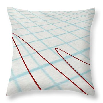 Polygraph Needle And Drawing Throw Pillow by Allan Swart