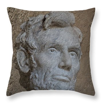 President Lincoln Throw Pillow by Skip Willits
