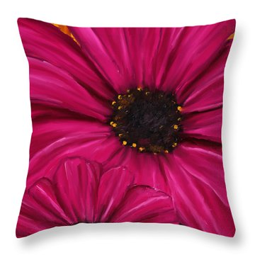 Purple Beauty Throw Pillow by Lourry Legarde
