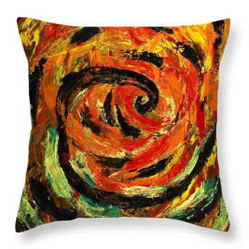 Rapid Cycling Throw Pillow by Walt Brodis