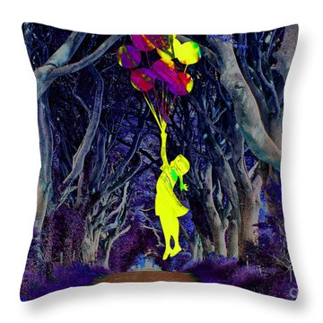 Recurring Dream Of Flying Throw Pillow by Marvin Blaine