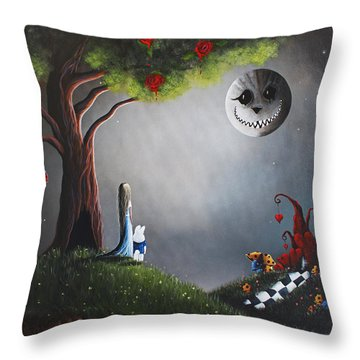 Alice In Wonderland Original Artwork Throw Pillow by Shawna Erback