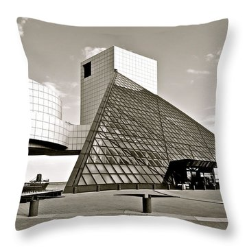 Rock Hall Of Fame Throw Pillow by Frozen in Time Fine Art Photography