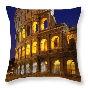 Roman Coliseum Throw Pillow by Brian Jannsen