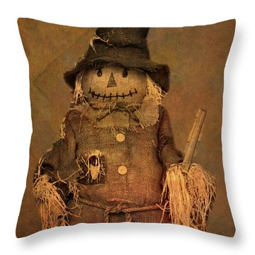 Scarecrow Throw Pillow by Dan Sproul