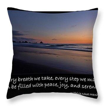 Serenity Throw Pillow by Don Schwartz