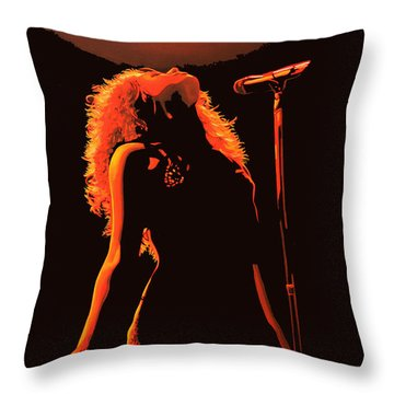 Shakira Throw Pillow by Paul Meijering