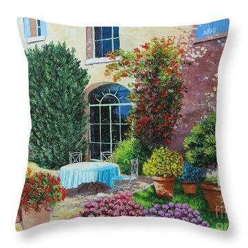 Shed From The Beach Throw Pillow by Jean-Marc Janiaczyk