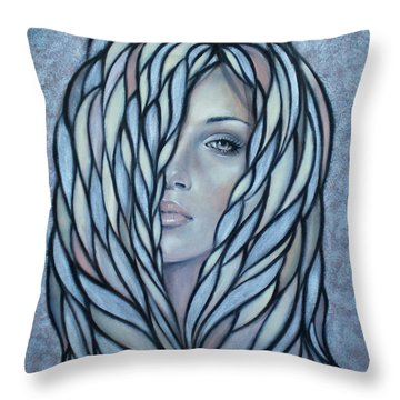Silver Nymph 021109 Throw Pillow by Selena Boron