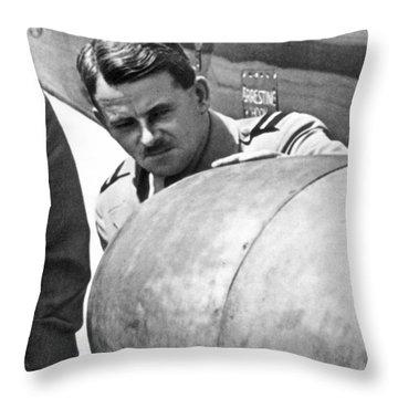 Sir Frank Whittle Throw Pillow by Granger