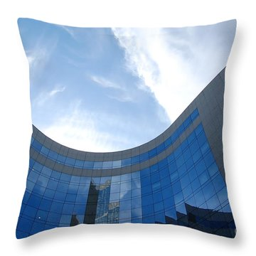 Skyscraper Throw Pillow by Michal Bednarek