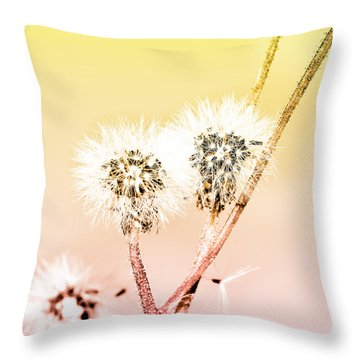 Spring Dandelion Throw Pillow by Toppart Sweden