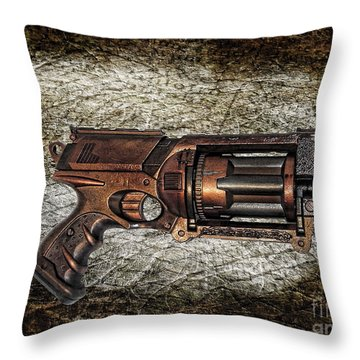 Steampunk - Gun - The Multiblaster Throw Pillow by Paul Ward