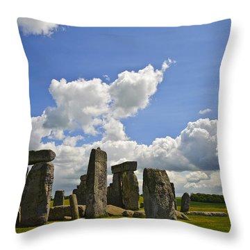 Stonehenge Throw Pillow by Matthew Gibson