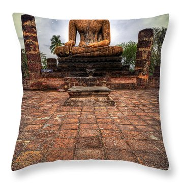 Sukhothai Buddha Throw Pillow by Adrian Evans