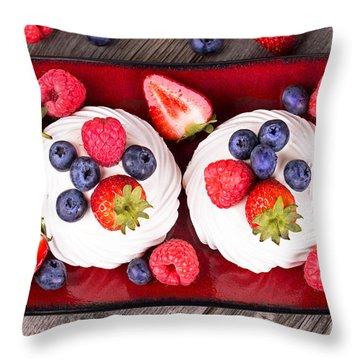 Summer Fruit Platter Throw Pillow by Jane Rix