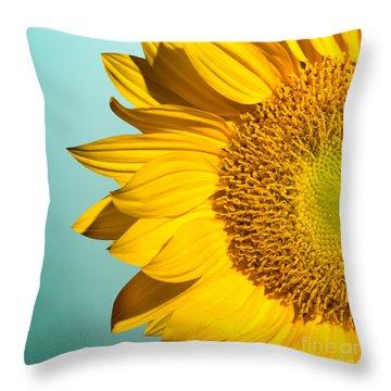 Sunflower Throw Pillow by Mark Ashkenazi