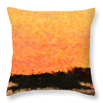 Sunset Throw Pillow by Toppart Sweden
