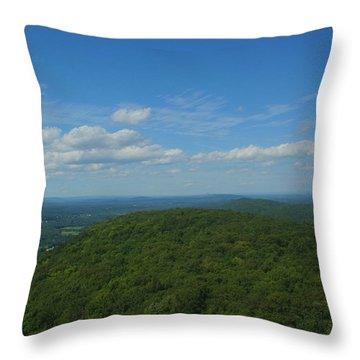 Talcott Mountain High Throw Pillow by Stephen Melcher