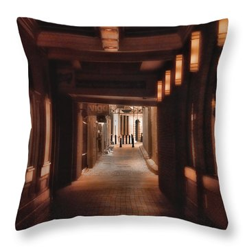 The Alleyway Throw Pillow by Joann Vitali
