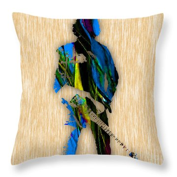 The Boss Bruce Springsteen Throw Pillow by Marvin Blaine