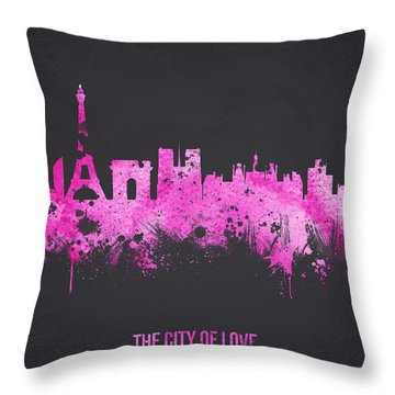 The City Of Love Throw Pillow by Aged Pixel