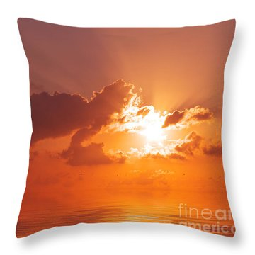 The Sunset Throw Pillow by Angela Doelling AD DESIGN Photo and PhotoArt