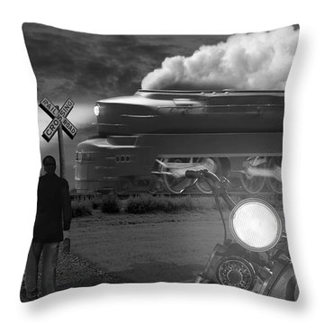The Wait Throw Pillow by Mike McGlothlen
