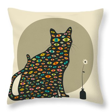 The Watcher Throw Pillow by Jazzberry Blue