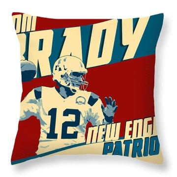 Tom Brady Throw Pillow by Taylan Soyturk