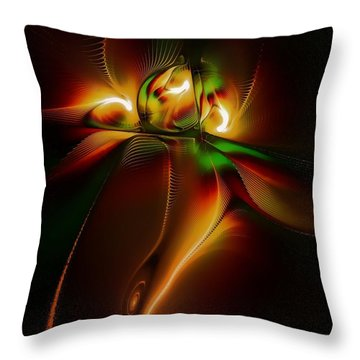 Twin Souls Throw Pillow by Amanda Moore