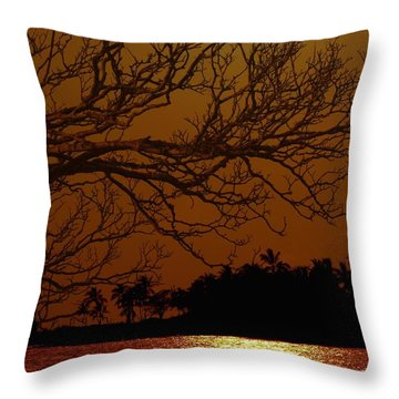 Under The Sunset Throw Pillow by Athala Carole Bruckner