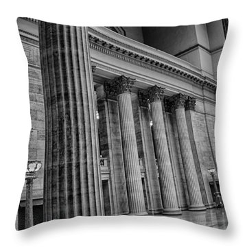 Union Station Chicago Throw Pillow by Mike Burgquist