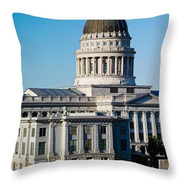 Utah State Capitol Building, Salt Lake Throw Pillow by Panoramic Images