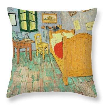 Van Goghs Bedroom At Arles Throw Pillow by Vincent Van Gogh