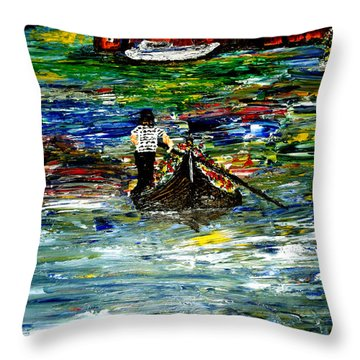 Venice Spring Throw Pillow by Mark Moore