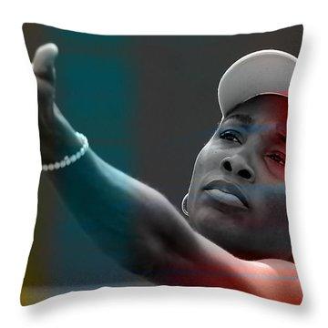 Venus Williams Throw Pillow by Marvin Blaine