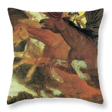 War Throw Pillow by Arnold Bocklin