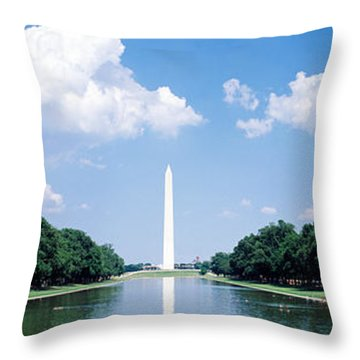 Washington Monument Washington Dc Throw Pillow by Panoramic Images